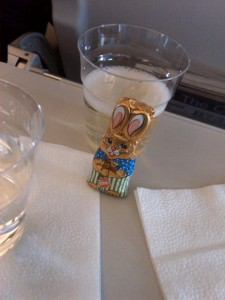 Bunnies and Champagne on the way to Geneva, Nice way to start the tour!